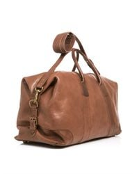 Polo Ralph Lauren - Brown Leather Weekender Bag for Men - Lyst