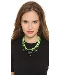 Venessa Arizaga - Green Apple Martini Necklace - Lyst