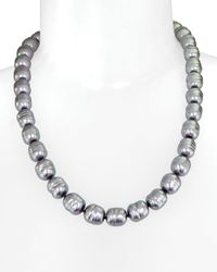 Majorica | Gray Manmade Pearl Strand Necklace 20 | Lyst