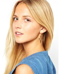 Miss Kg - Metallic Maria Francesca Pepe Articulated Cross Earrings - Lyst