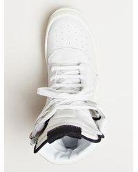 Rick Owens - White Womens Geobasket Sneakers - Lyst