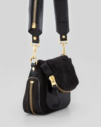 Tom Ford | Jennifer Suede Mini Crossbody Bag Black | Lyst