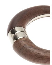 Givenchy - Brown Horn Round Earring for Men - Lyst