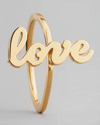 Jennifer Zeuner - Metallic Sideways Cursive Love Ring - Lyst