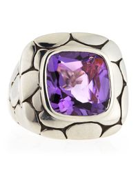 John Hardy - Purple Batu Kali Large Amethyst Square Ring Size 6 for Men - Lyst