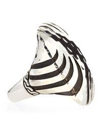 John Hardy - Metallic Palu Macan Silver Large Square Ring Size 7 - Lyst