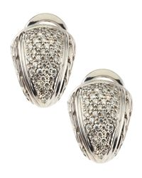 John Hardy | Metallic Small Shrimp Diamond Pave Earrings | Lyst