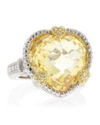Judith Ripka - Yellow Canary Heart Ambrosia Ring - Lyst