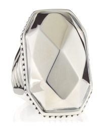 Lagos | Metallic Silver Rocks Large Ring Size 7 7 | Lyst