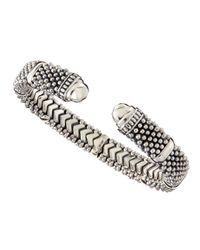 Lagos | Metallic Torque Sterling Silver Bracelet | Lyst