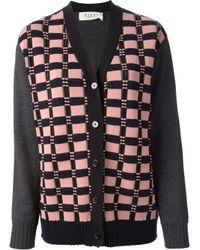 Marni | Pink Marni Textured Check Cardigan | Lyst