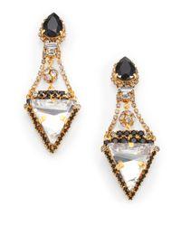 Erickson Beamon - Metallic Envy Velocity Crystal Drop Earrings - Lyst