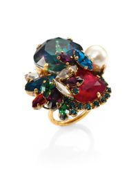 Erickson Beamon - Multicolor Velocity Cluster Ring - Lyst