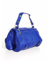 Golden Lane - Midnight Blue Leather Duo Satchel  - Lyst
