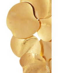 Herve Van Der Straeten | Metallic Hammered Gold Plated Clip Earrings | Lyst