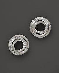 Marco Bicego - White Diamond Jaipur Link Stud Earrings, 0.29 Ct. T.w. - Lyst