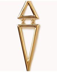 Forever 21 - Metallic Dangling Triangle Earrings - Lyst