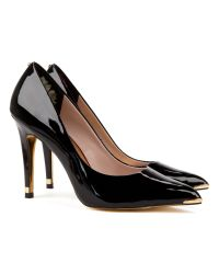 Ted Baker | Black Neevo Pointed Court Shoe | Lyst