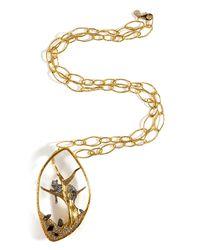 Alexis Bittar | Metallic Reliquary Pendant Siyabona Large Chain Necklace | Lyst