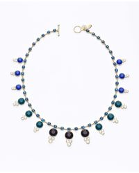 Ann Taylor - Multicolor Ombre Statement Necklace - Lyst