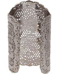 Aurelie Bidermann - Black Vintage Lace Cuff - Lyst