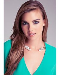 Bebe - Pink Open Collar Stone Necklace - Lyst