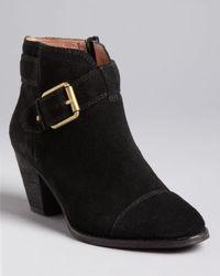 Corso Como | Black Buckled Booties Applewood Mid Heel | Lyst