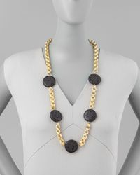Devon Leigh | Metallic Lava Coin Necklace | Lyst