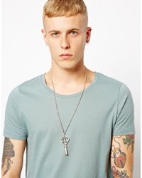ASOS | Metallic Afends Key Necklace for Men | Lyst