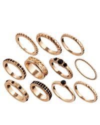 ASOS - Metallic Eastern Delight Every Finger Ring Pack - Lyst