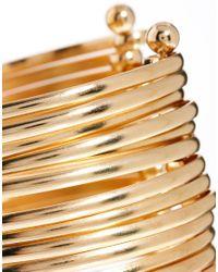 ASOS - Metallic Multi Bar Cuff Bracelet - Lyst