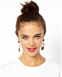 ASOS - Multicolor Pyramid Jewel Earring - Lyst