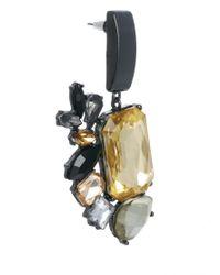 ASOS   Multicolor Metal Jewel Doorknocker Earrings   Lyst