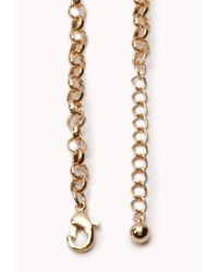 Forever 21 - Green Opulent Layered Bib Necklace - Lyst