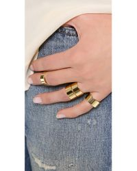 Gorjana | Brown Camila Ring Set - High Shine Gold | Lyst