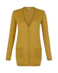 Hobbs - Yellow Tia Cardigan - Lyst