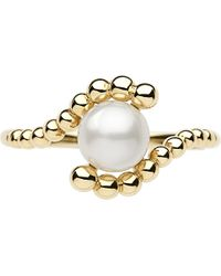 Links of London - White Effervescence 18 Carat Gold Mini Pearl Ring - For Women - Lyst