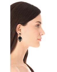 Noir Jewelry - Black Small Crystal Drop Earrings - Lyst