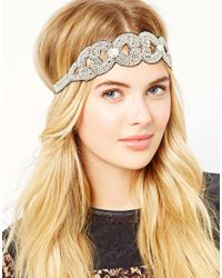 ASOS | Metallic Embellished Baroque Headband | Lyst