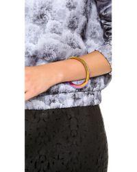 Rebecca Minkoff - Multicolor Irregular Bangle Bracelet - Lyst