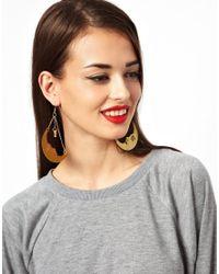 Tatty Devine | Metallic La Luna Moon Earrings | Lyst