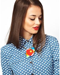 Orla Kiely | Red Tatty Devine Psychedelic Heart Necklace | Lyst