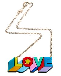 Tatty Devine - Red Psychedelic Love Necklace - Lyst