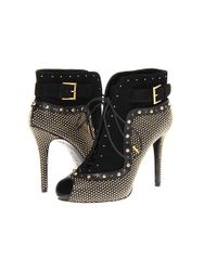 Alexander McQueen | Black Animalprint Calf Hair and Leather Ankle Boots | Lyst