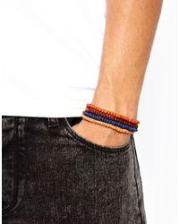 ASOS - Orange Classics 77 Beaded Bracelet Pack for Men - Lyst