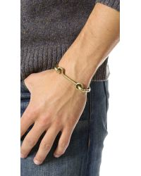Eddie Borgo - Metallic Door Latch Cuff for Men - Lyst