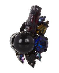 Erdem - Multicolor Rhodiumplated Swarovski Crystal Clip Earrings - Lyst