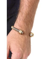 Giles & Brother | Metallic Nut & Bolt Cuff for Men | Lyst