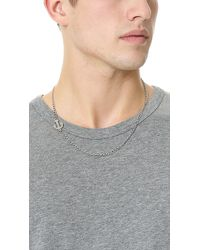Giles & Brother - Metallic Embedded Anchor Necklace for Men - Lyst