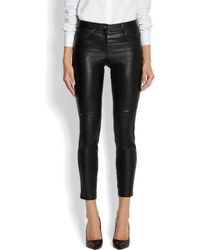 Givenchy - Black Leather Pants - Lyst